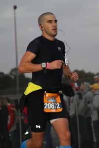 Paul finishing the half-marathon