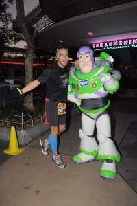 stopping for a photo with Buzz