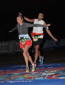 Flying finish at the 5K