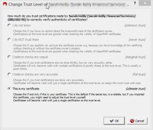 Change Trust Level